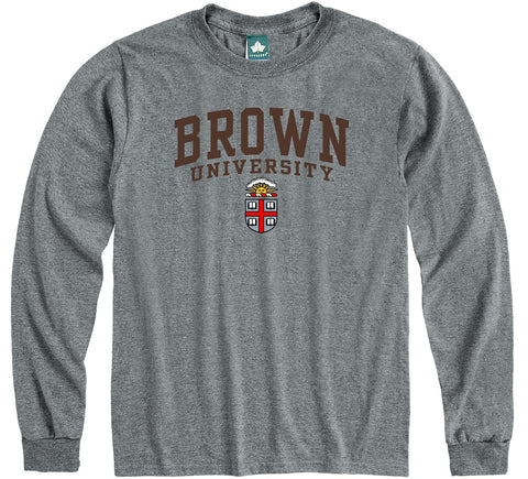 Brown Heritage Long Sleeve T-Shirt (Charcoal Grey)