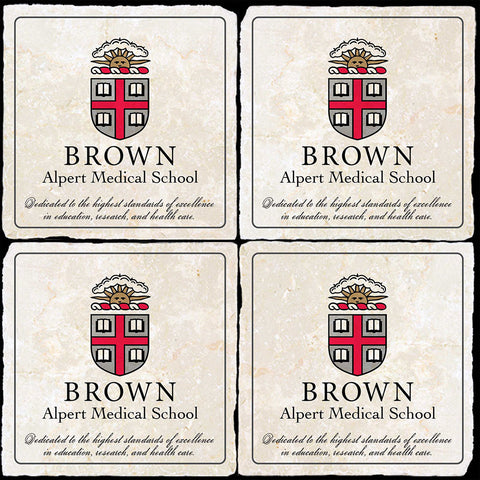 Brown Alpert Medical School 4 Coaster Set