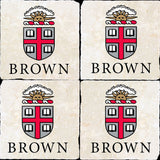Brown Crest Logos 4 Coaster Set