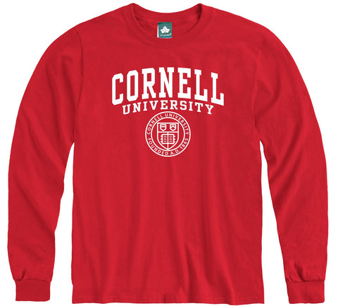 Cornell Heritage Long Sleeve T-Shirt (Red)