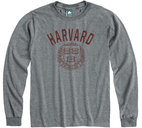 Harvard Heritage Long Sleeve T-Shirt (Charcoal Grey)