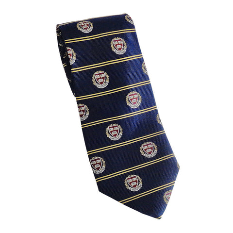 Harvard - Veritas Tie (Silk) Navy