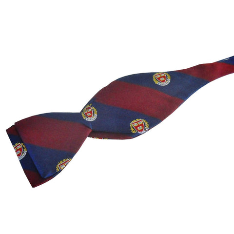 Harvard Seal Stripe Bow Tie (Silk)