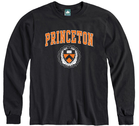Princeton Heritage Long Sleeve T-Shirt (Black)