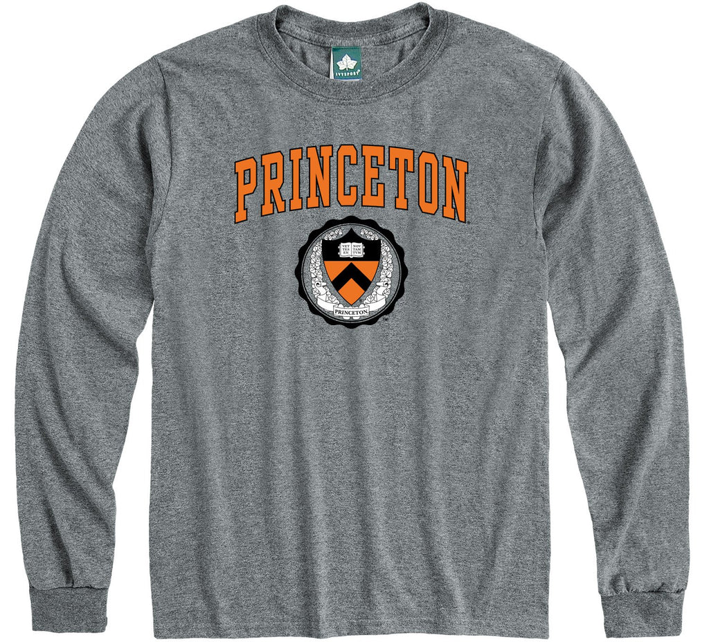 Princeton Heritage Long Sleeve T-Shirt (Charcoal Grey)