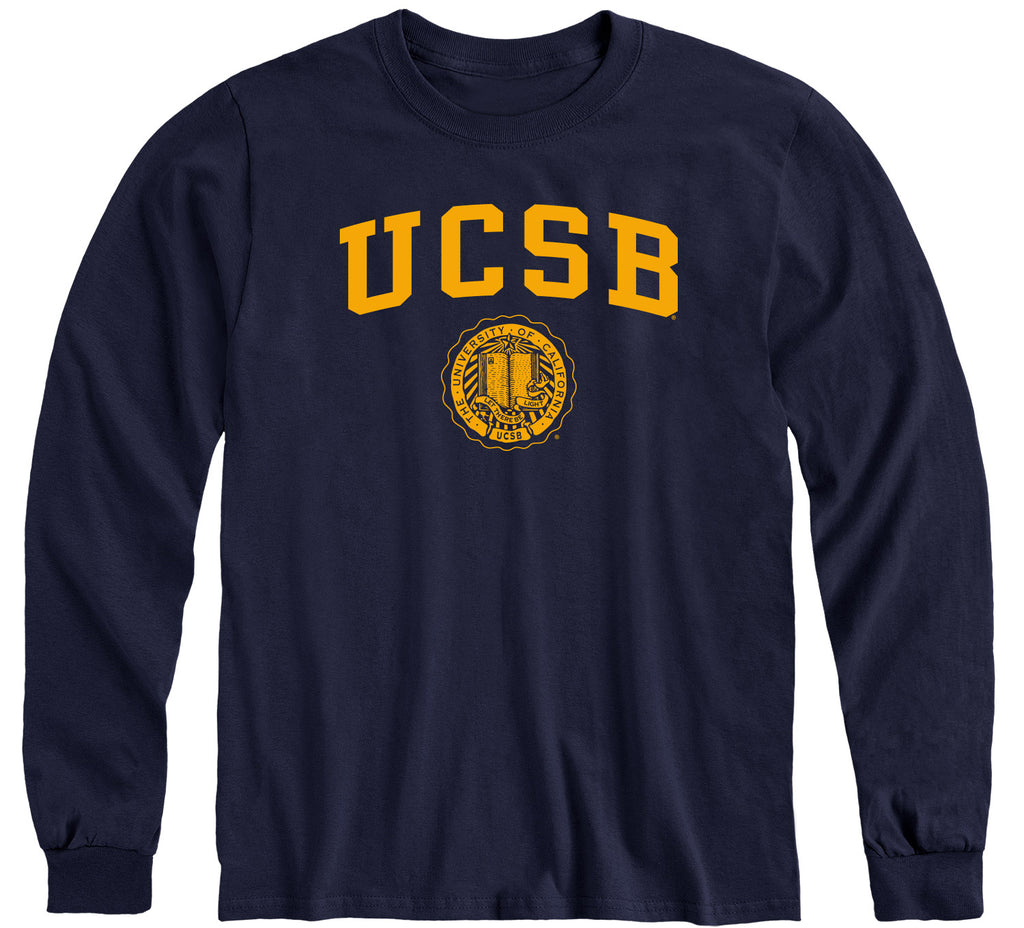 UC Santa Barbara Heritage Long Sleeve T-Shirt (Navy)