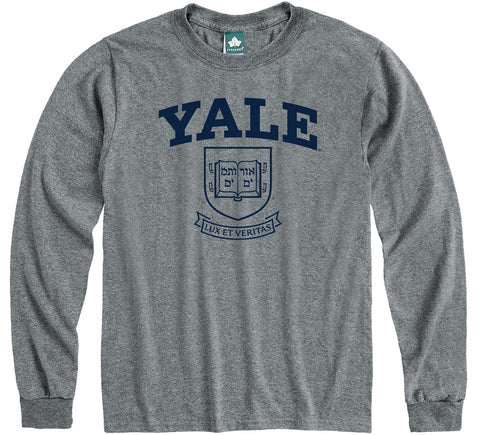 Yale Heritage Long Sleeve T-Shirt (Charcoal Grey)