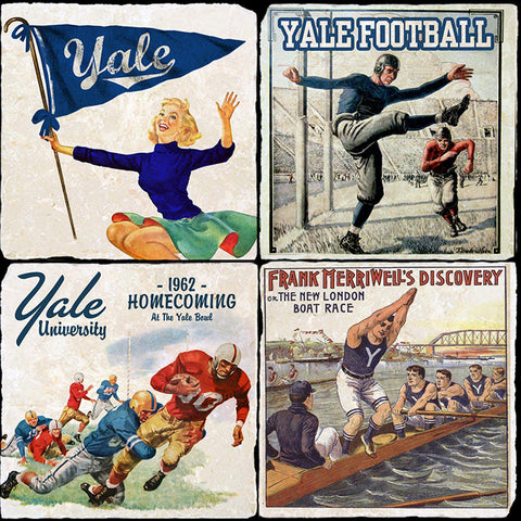 Yale Retro 4 Coaster Set