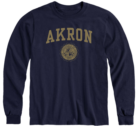 University of Akron Heritage Long Sleeve T-Shirt (Navy)