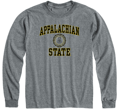 Appalachian State University Heritage Long Sleeve T-Shirt (Charcoal Grey)