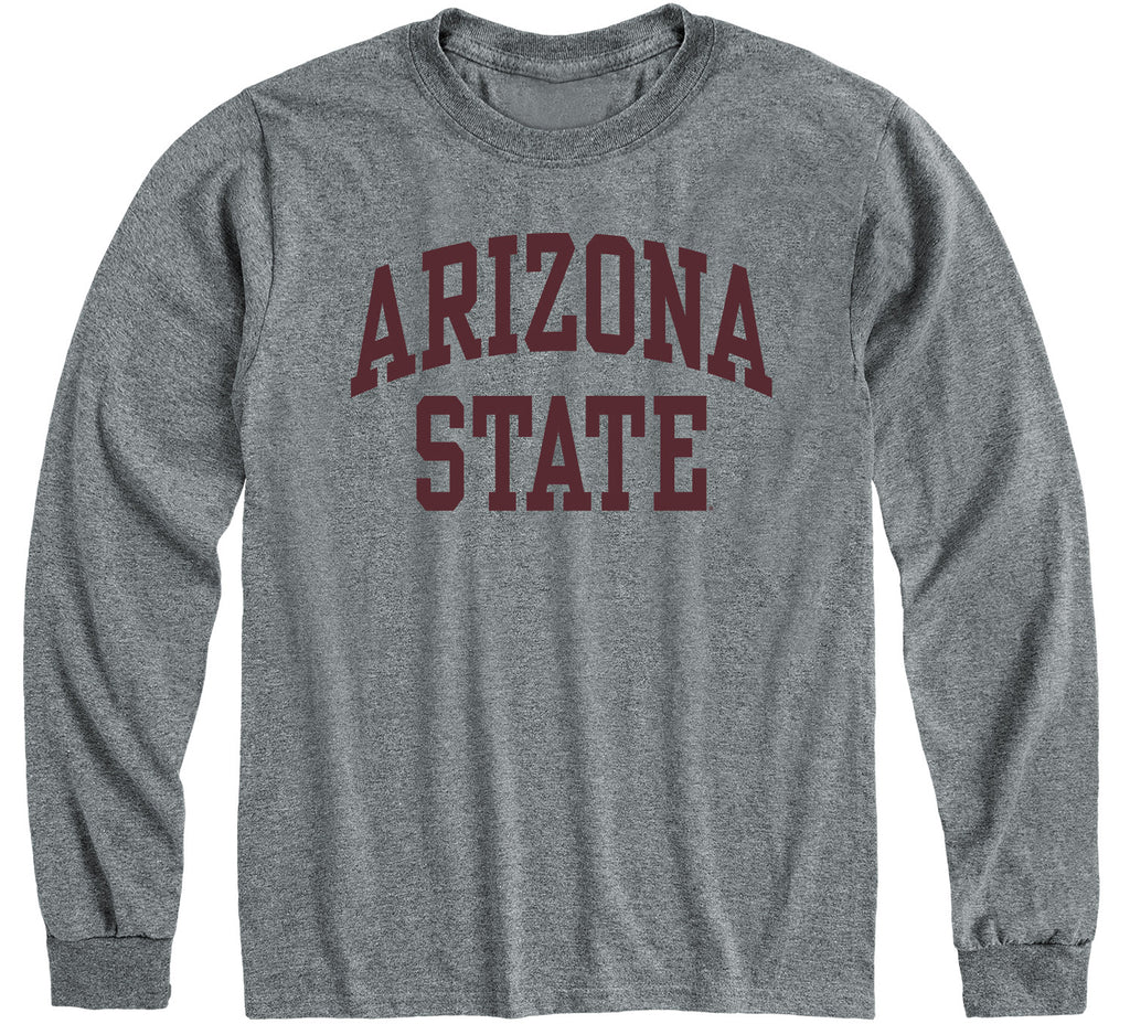 Arizona State University Classic Long Sleeve T-Shirt (Charcoal Grey)