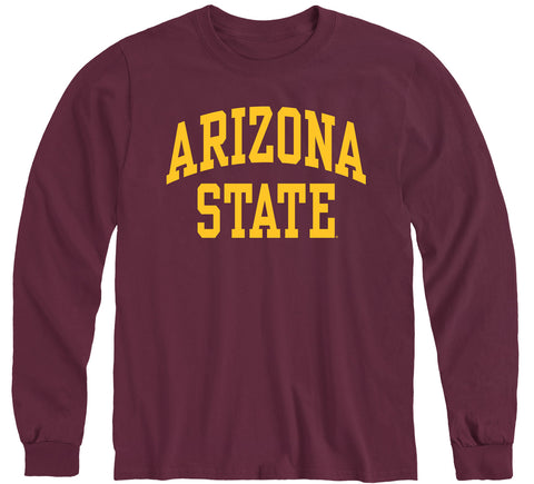 Arizona State University Classic Long Sleeve T-Shirt (Maroon)
