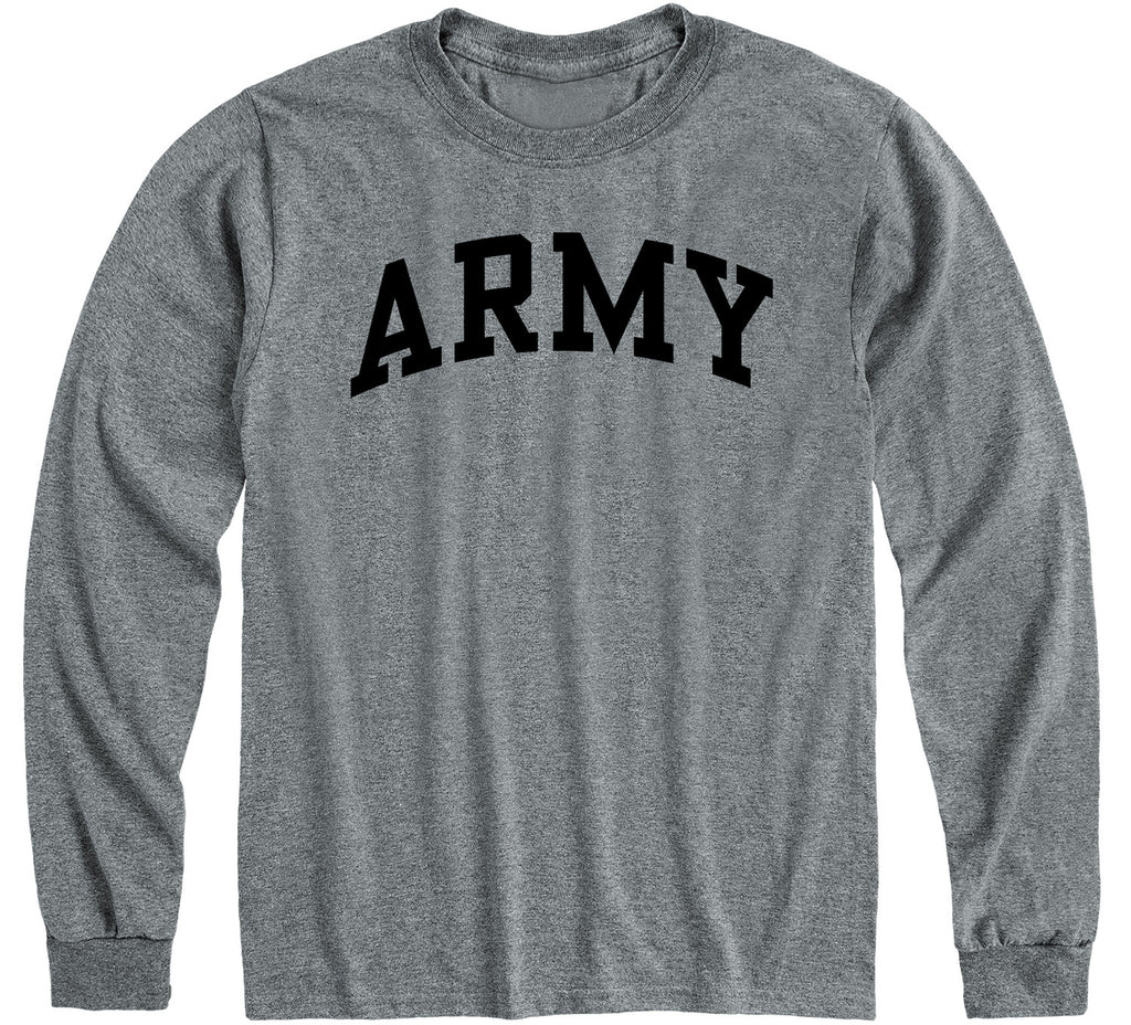 Army Classic Long Sleeve T-Shirt (Charcoal Grey)