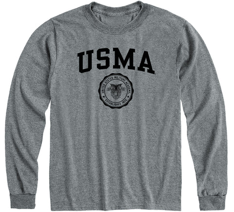 Army Heritage Long Sleeve T-Shirt (Charcoal Grey)