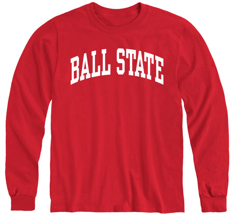 Ball State University Classic Long Sleeve T-Shirt (Red)