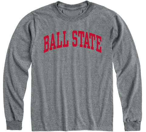 Ball State University Classic Long Sleeve T-Shirt (Charcoal Grey)