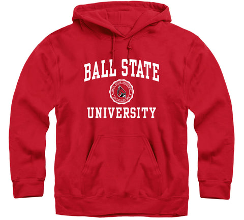 Ball State University Heritage Hooded Sweatshirt (Red)