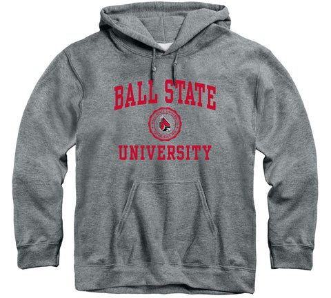 Ball State University Heritage Hooded Sweatshirt (Charcoal Grey)