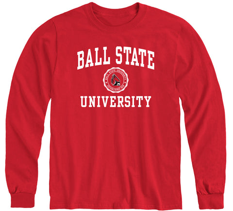 Ball State University Heritage Long Sleeve T-Shirt (Red)
