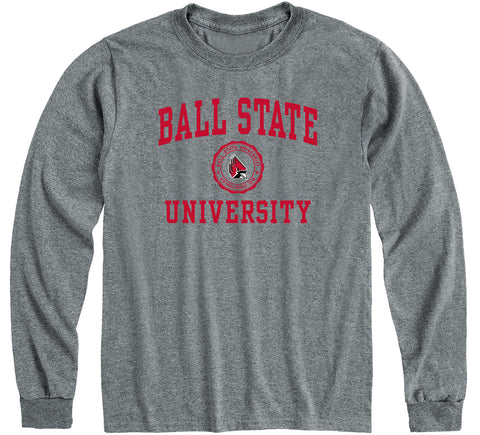 Ball State University Heritage Long Sleeve T-Shirt (Charcoal Grey)