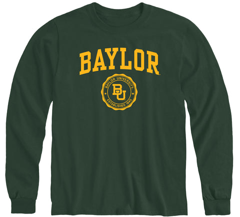 Baylor University Heritage Long Sleeve T-Shirt (Hunter Green)