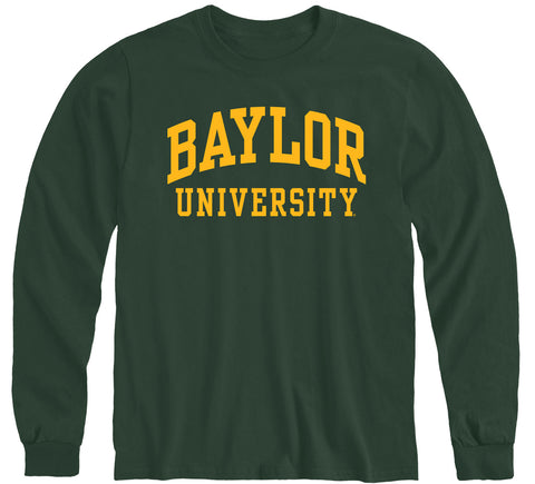 Baylor University Classic Long Sleeve T-Shirt (Hunter Green)