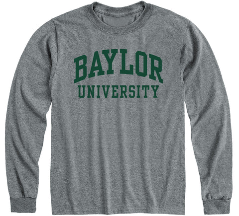 Baylor University Classic Long Sleeve T-Shirt (Charcoal Grey)