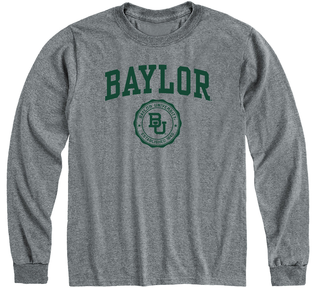 Baylor University Heritage Long Sleeve T-Shirt (Charcoal Grey)