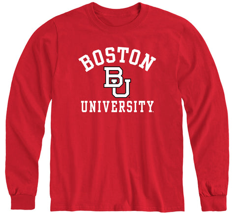 Boston University Heritage Long Sleeve T-Shirt (Red)