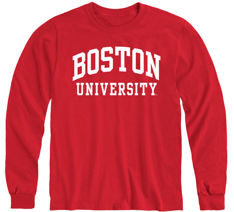 Boston University Classic Long Sleeve T-Shirt (Red)