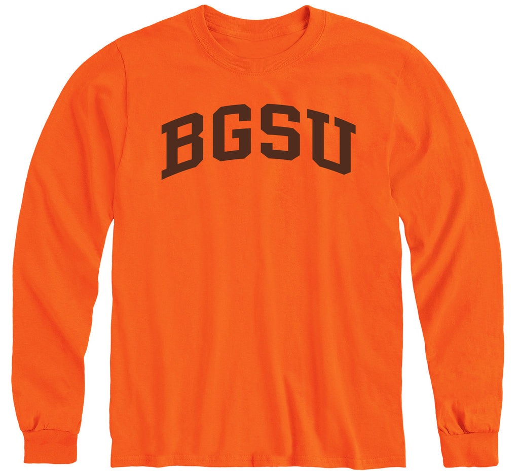 Bowling Green State University Classic Long Sleeve T-Shirt (Orange)