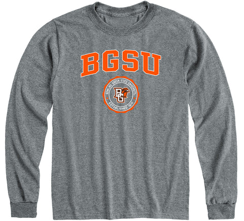 Bowling Green State University Heritage Long Sleeve T-Shirt (Charcoal Grey)