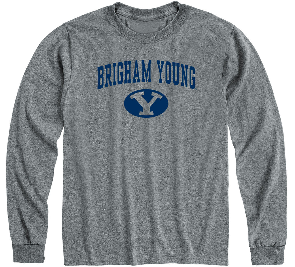 Brigham Young University Heritage Long Sleeve T-Shirt (Charcoal Grey)