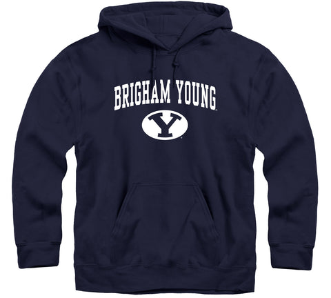 Brigham Young University Heritage Hooded Sweatshirt (Navy)