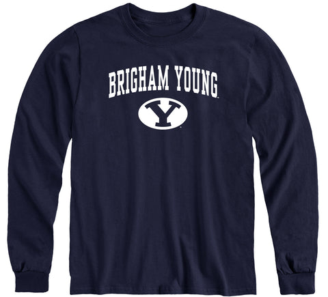 Brigham Young University Heritage Long Sleeve T-Shirt (Navy)