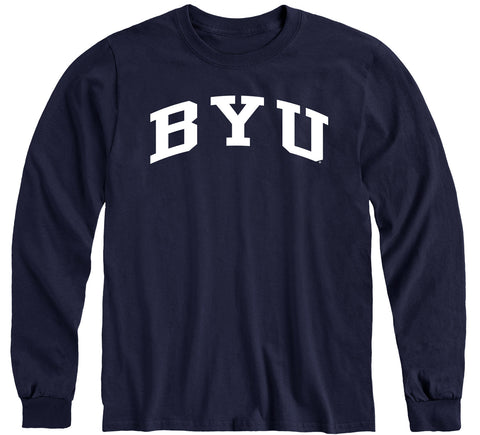 Brigham Young University Classic Long Sleeve T-Shirt (Navy)