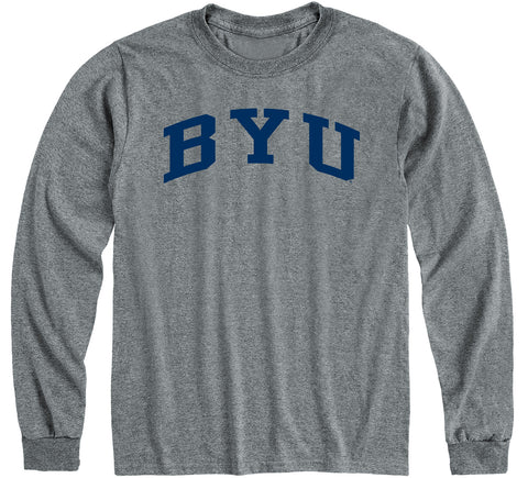 Brigham Young University Classic Long Sleeve T-Shirt (Charcoal Grey)