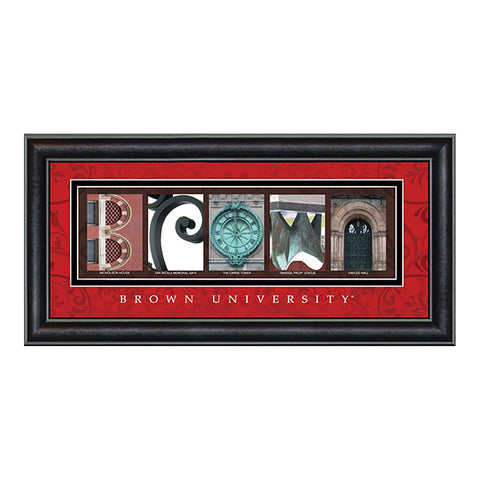 Brown - Campus Letter Art (Red)