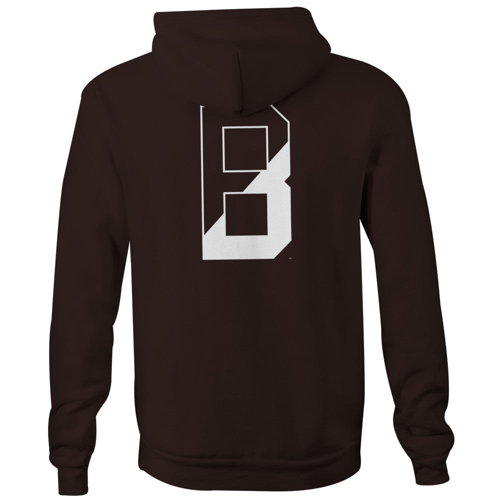 Brown - Letter - Hooded Sweatshirt (Brown)
