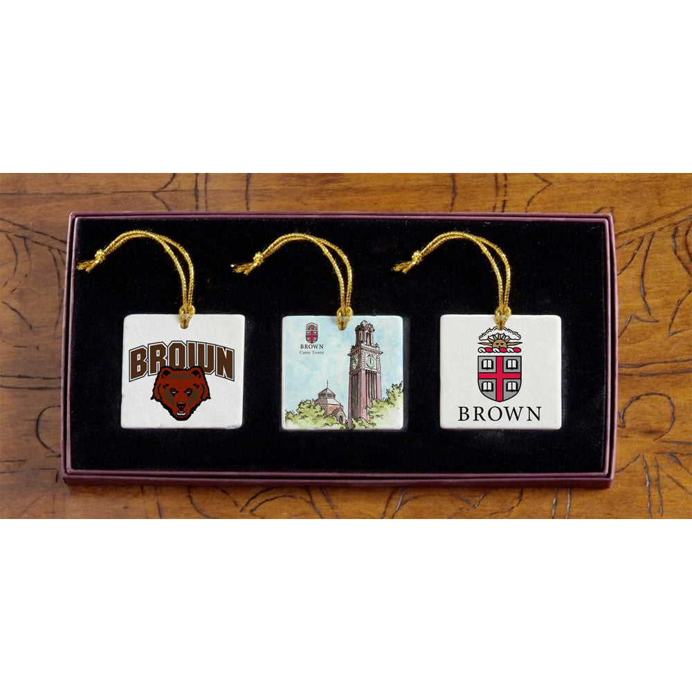 Brown - Christmas 3 Ornament Set
