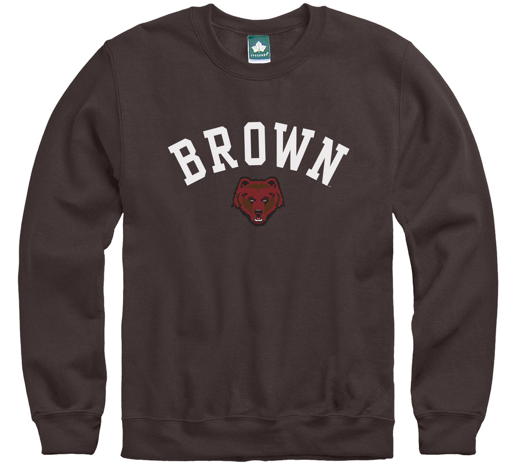 Brown Athletics Logo Sweatshirt (Brown)