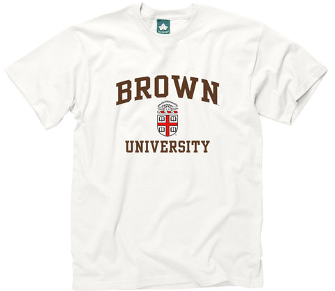 Brown Crest T-Shirt (White)