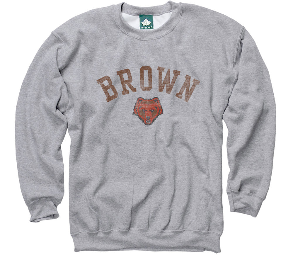 Brown Team Vintage Sweatshirt (Heather Grey)