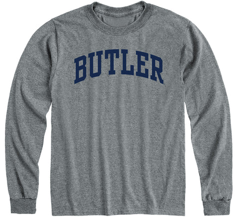 Butler University Classic Long Sleeve T-Shirt (Charcoal Grey)