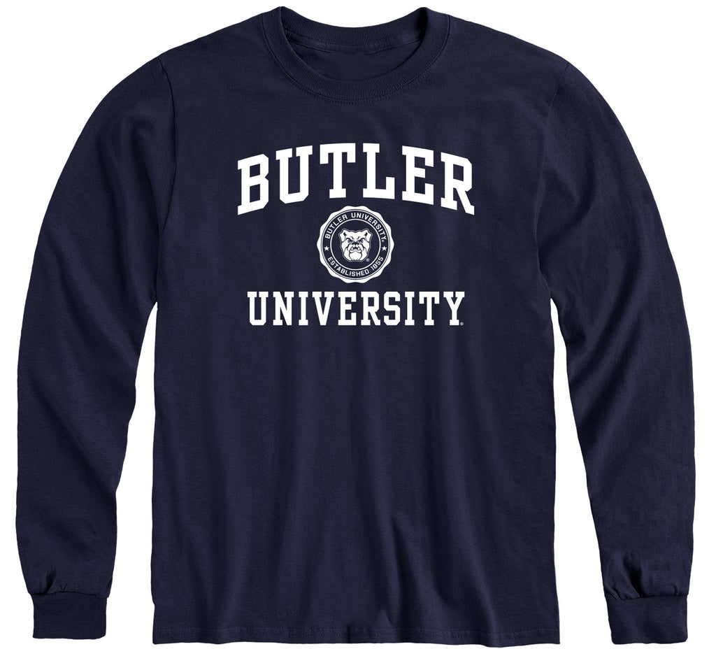 Butler University Heritage Long Sleeve T-Shirt (Navy)