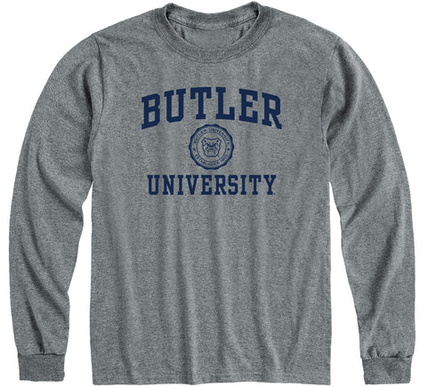 Butler University Heritage Long Sleeve T-Shirt (Charcoal Grey)