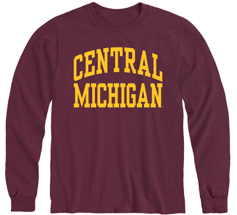 Central Michigan University Classic Long Sleeve T-Shirt (Maroon)