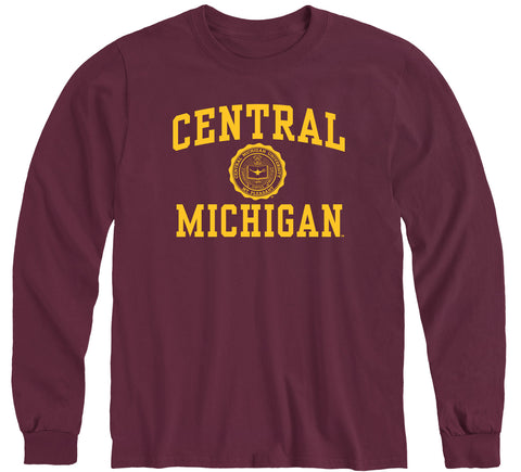 Central Michigan University Heritage Long Sleeve T-Shirt (Maroon)