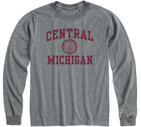 Central Michigan University Heritage Long Sleeve T-Shirt (Charcoal Grey)