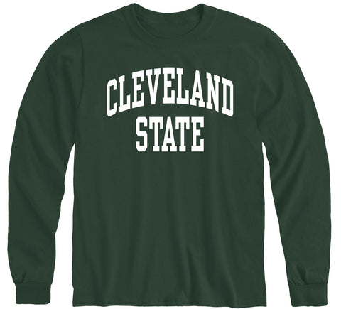 Cleveland State University Classic Long Sleeve T-Shirt (Hunter Green)
